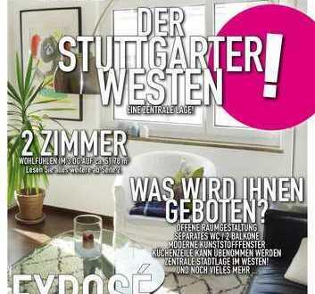 Gemütliche zwei Zimmer Wohnung mit zwei Balkonen im Stuttgarter Westen