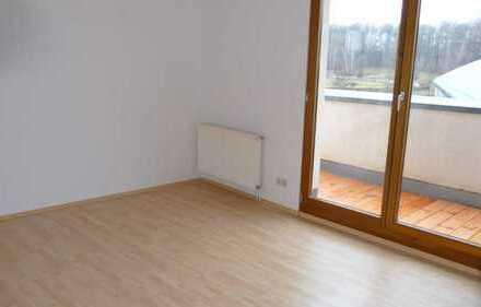 2-Raum DG Wohnung mit schönem Blick und Riesenbalkon in Lichtenstein