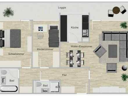 Komplett sanierte 3-Zi.-Dachgeschoss-Wohnung - ohne Provision