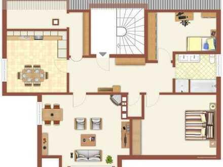 Großzügige Dachgeschoss-Wohnung in Ortsteil von Coburg