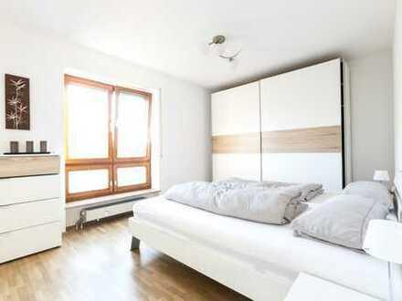 Stilvolle, helle, möblierte und voll ausgestattete 2-Zimmer-Whg., S/W-Ausrichtung, Wohnen auf Zeit