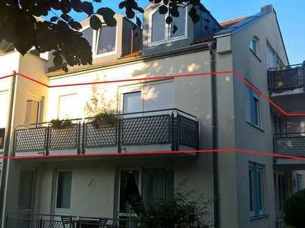 Helle 3-Zimmer-Wohnung zur Gartenseite, 2 Balkone