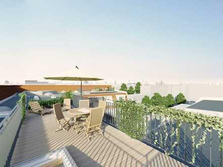 Neubau Dachgeschoss mit 40 qm Auf Dach Terrasse und atemberaubendem Blick
