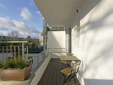 Immobilien-Richter: Top ausgestattete 2-Zimmer-Wohnung mit Kamin und großer Terrasse! MÖBLIERT