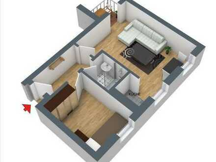 Schöne 1,5-Zimmer-Wohnung mit Balkon und EBK in Münster-Hiltrup