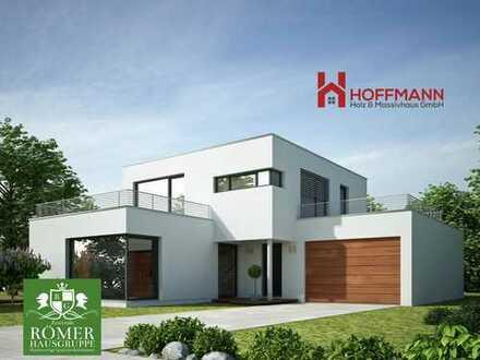 """Parkstetten schönes freies Grundstück mit """"Römer""""-DHH/EFH, KFW55, schlüsself.,"""