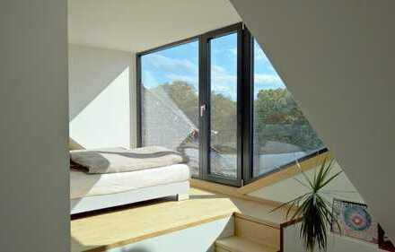 Helle, offene Dachgeschosswohnung mit Kamin und Dachterrasse in Bonn Poppelsdorf