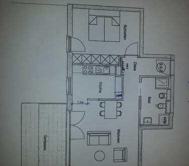 Exklusive 2-Zimmer-Wohnung (voll möbliert) in Germering mit ca. 90qm Garten