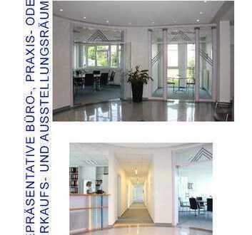 repräsentative Büro-, Praxis- oder Verkaufs- und Ausstellungsräume in modernem Gebäude