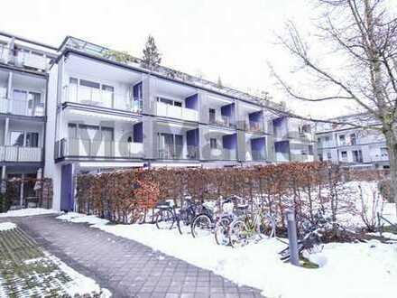 Naturnah, verkehrsgünstig und lichtdurchflutet: Helles 1-Zi.-Apartment mit Südwestbalkon!