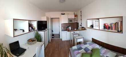 Exklusive, neuwertige 1-Zimmer-Wohnung mit Balkon und EBK in Milbertshofen, München