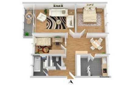 Leerwohnung: 3-Zimmer Wohnung Leitenstraße 34