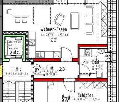 Erstbezug!  2 ZKB Rollstuhlgeeignete Neubauwohnung mit Balkon
