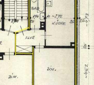 gepflegte 1,5-Zimmer-Wohnung mit Balkon und Einbauküche in Karlsruhe