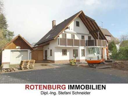 Erstbezug nach Sanierung: großzügiges Haus mit Kamin, Terrasse, Balkon und Garten in Rotenburg