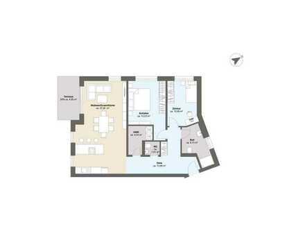 A3 - Geräumige 3 Zimmer Erdgeschosswohnung mit Privatgarten