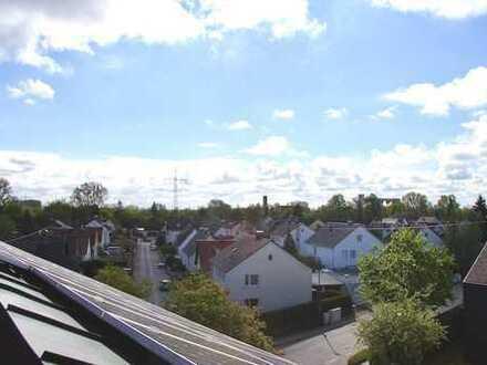 Herrliche Aussicht über die Dächer von Gersthofen