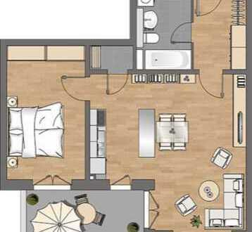 Schöne 2-Zimmer-Wohnung mit Einbauküche und Balkon in Hamm-Nord, Hamburg