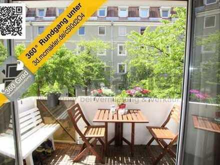 Lichtdurchflutete Etagenwohnung mit Balkon im schönen Untersendling