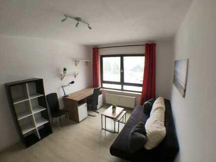 Erstbezug nach Sanierung: Frisch möblierte 1-Zimmer-Wohnung in Studentenwohnanlage