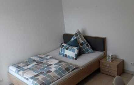 Businessapartment mit Bad und Küche, 1,40mx2,00m Bett, Full-HD TV mit Sky-Pay-TV, WLan
