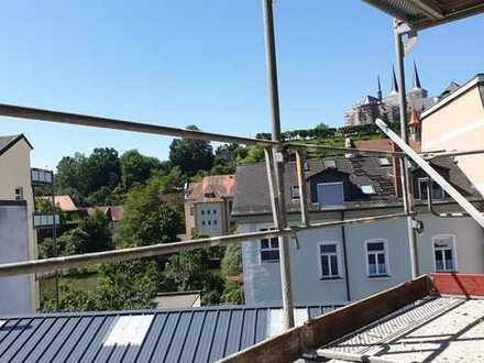 Blick auf Michelsberg: Ruhige 3-Zi.-Whg. mit Süd-Loggia am Altstadtrand mit hochwertiger Ausstattung