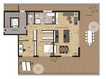 Neubauvorhaben Penthouse 3 - Zimmer Wohnung mit toller Dachterrasse