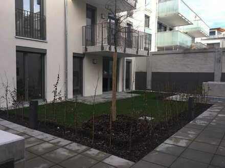 Erstbezug: exklusive 3-Zimmer-Erdgeschosswohnung mit Einbauküche und eigenem Garten in Fürth