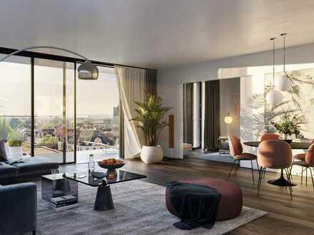 Blick über Frankfurt: Premium 2-Zimmer-Wohnung mit vertikalen Gärten