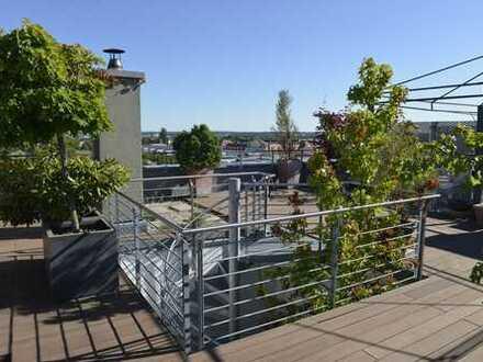 Promenade Südstadtpark: Großzügiges Penthouse mit Wintergarten und XXL-Panorama-Dachterrasse