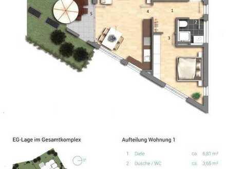 Neubau: attraktive 2-Zi.-EG-Whg mit EBK und Terasse in Plüderhausen