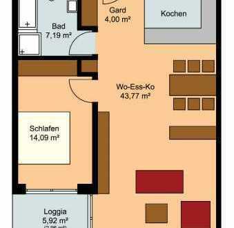 Schöne, helle 2 Zimmer Wohnung in Dietenheim