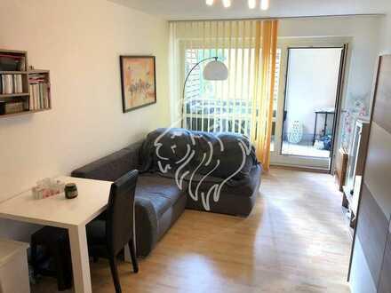 Möblierte 1-Zimmerwohnung mit toller Aussicht in ruhiger Lage