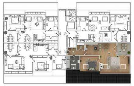 HAUS 1 * West-Carrée * Ampfing • NEUBAU 2-Zi.-Wohnung mit Loggia im DG (WE 20)