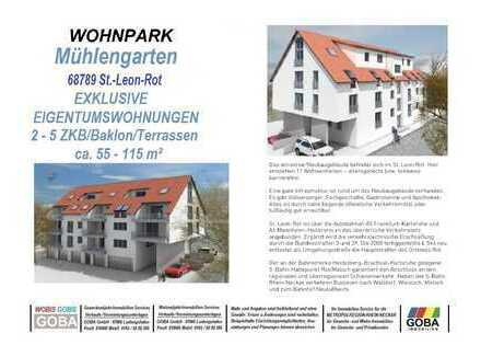 Modern Naturnah nahe SAP - Infos - barrierefrei 2-4 ZKB Balkon 55 -115 m² Neubau-ETW KfW55 Effizienz