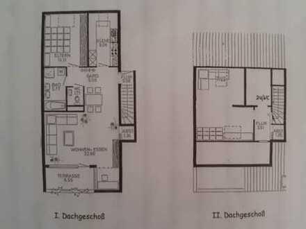 Gepflegte 3,5-Zimmer-Maisonette-Wohnung mit Balkon und Einbauküche in Heilbronn