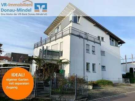 Für Kapitalanleger! Eigentumswohnung in Burgau in bester Lage mit Garten