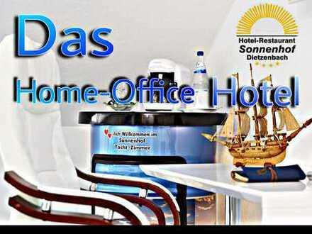 First Class Home-Office Einzelzimmer Bad & Balkon Monatsweise, Ruhe-Luxus, Zimmerservice & Top W-Lan