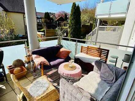 Hochparterre - 3 Zimmer Wohnung mit Balkon und EBK