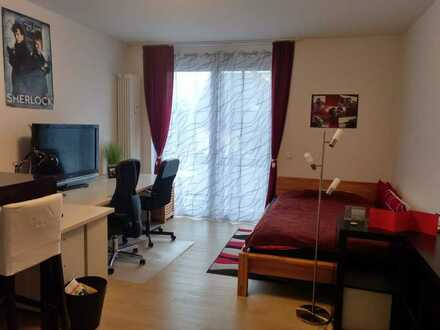 Gepflegte 1-Zimmer-Wohnung mit großem Südbalkon und komfortabler Einbauküche