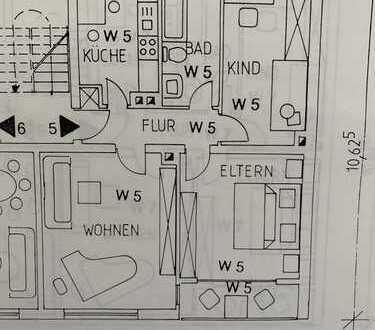 -Toplage- 3 Zimmer Wohnung komplett renoviert in sehr guter Lage mit zwei Balkone