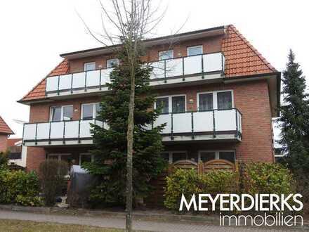Kreyenbrück - An der großen Wisch: 2-Zimmer-Wohnung mit offener Küche und Terrasse im Erdgeschoss