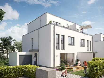 Modernes Stadthaus mit vielen Annehmlichkeiten und 667 m² großem Grundstück