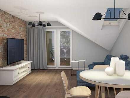 Erstbezug nach Sanierung mit EBK und Balkon: schöne 2-Zimmer-DG-Wohnung in Klosterfelde