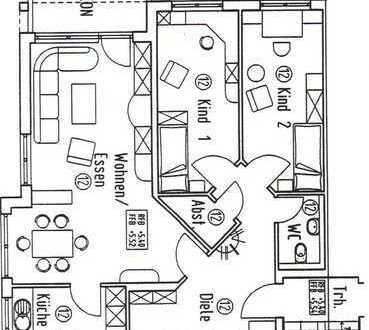 Exklusive, neuwertige 4,5-Zimmer-Wohnung mit Balkon in Benningen
