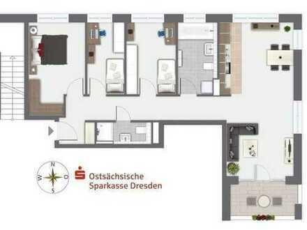 Moderne 4-Raum-Wohnung mit Balkon