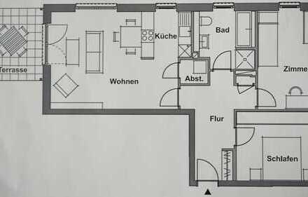 Erstbezug: attraktive 3-Zimmer-Terrassenwohnung