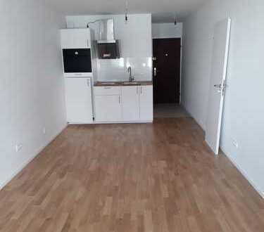 Vollständig renovierte 1-Zimmer-Hochparterre-Wohnung mit EBK in Moosach, München