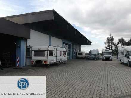 Lager- / Produktionshallen in Toplage mit flexiblen Nutzungsmöglichkeiten und großem Außenareal m