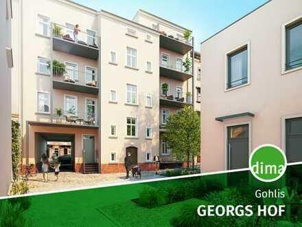 Georgs Hof | Denkmal-AfA + KfW-Förderung | Einbauküche | Tageslichtbad mit Wanne | Balkon | Parkett